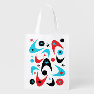 Retro Boomerangs Reusable Grocery Bag