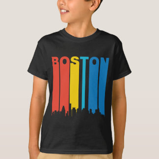Retro Boston Skyline T-Shirt