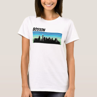 Retro Boston Skyline T-Shirt