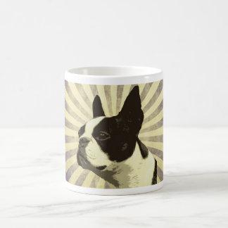 retro boston terrior coffee mug