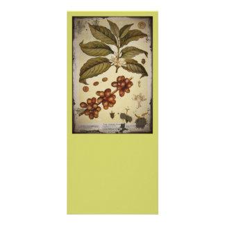Retro Botanical Image Coffee Rack Card