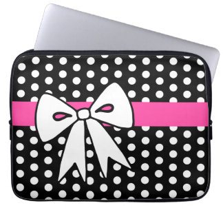 Retro Bow Laptop Sleeve