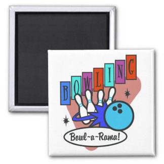 retro bowl-a-rama sign 2 inch square magnet