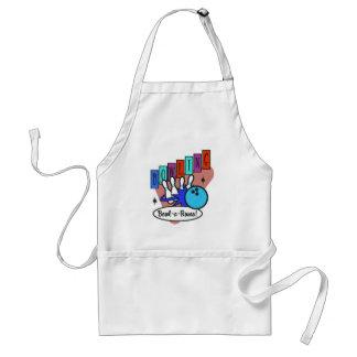 retro bowl-a-rama sign adult apron