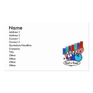 retro bowl-a-rama sign business card templates