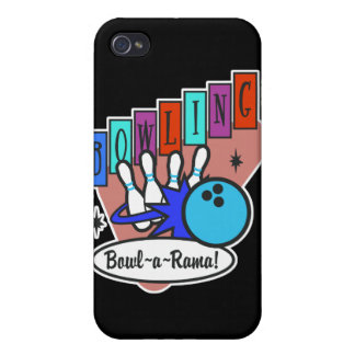 retro bowl-a-rama sign covers for iPhone 4