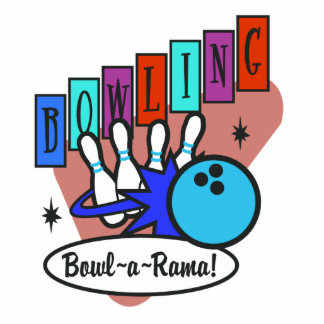 retro bowl-a-rama sign photo cutout