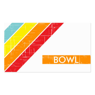 retro BOWL Double-Sided Standard Business Cards (Pack Of 100)