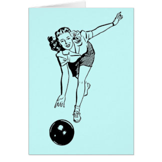 Retro Bowler Card