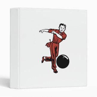 retro bowler design binders