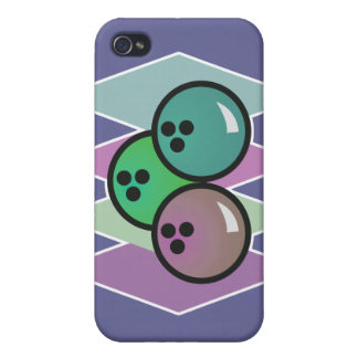 retro bowling balls design cover for iPhone 4