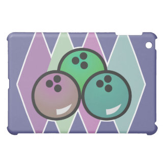 retro bowling balls design iPad mini cases