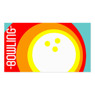 retro BOWLING circles Double-Sided Standard Business Cards (Pack Of 100)