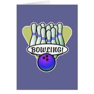 retro bowling design card