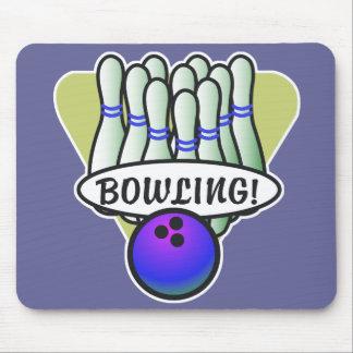 retro bowling design mouse pad