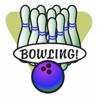 retro bowling design photo sculptures