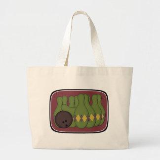 Retro Bowling Jumbo Tote Bag