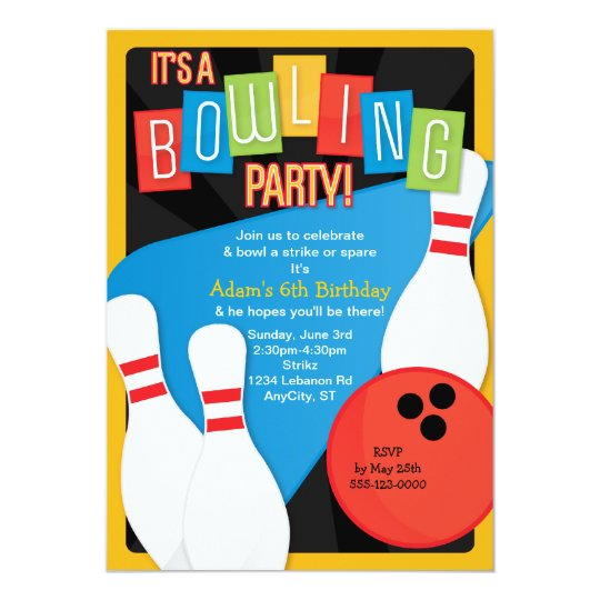 Bowling Invitations  Bowling Announcements  Invites