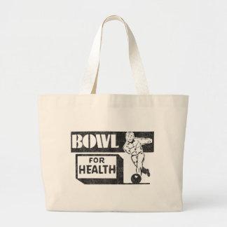 Retro Bowling Large Tote Bag