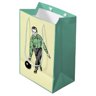 RETRO BOWLING MAN Gift Bag