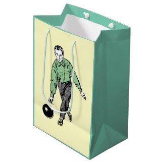 RETRO BOWLING MAN Gift Bag