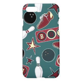 Retro Bowling Pattern iPhone 7 Case