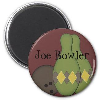 Retro Bowling Set 2 Inch Round Magnet