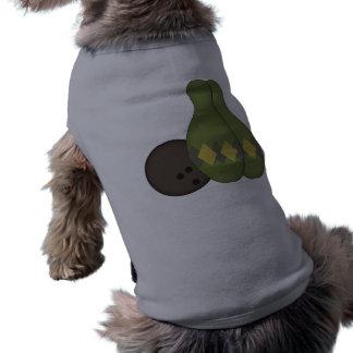 Retro Bowling Set Dog Tshirt