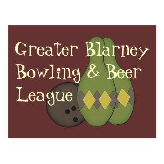 Retro Bowling Set Postcard
