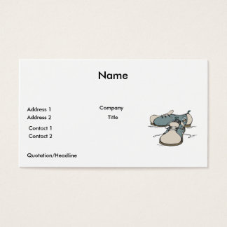 retro bowling shoes design business card