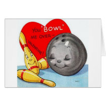 Retro Bowling Valentine's Day Card