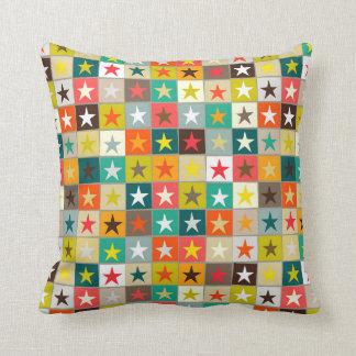 retro boxed stars throw pillow