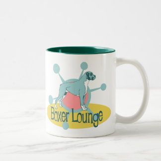 Retro Boxer Lounge Two-Tone Coffee Mug