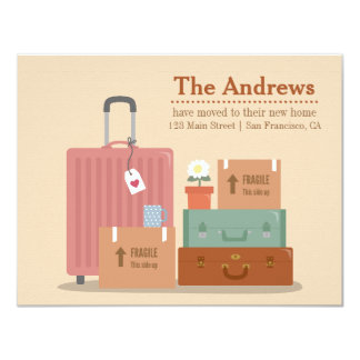 Retro Boxes and Suitcases New Home Announcements