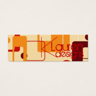 retro boxes skinny business card
