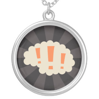 Retro brain with exclamation marks jewelry