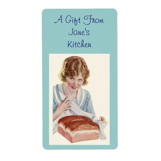 Retro Bread Baker Labels Label Kitchen Gifts Gift