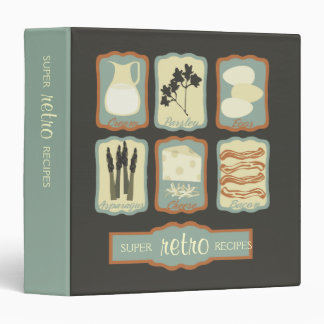 retro breakfast quiche foods recipe binder