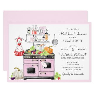 Retro Bridal Kitchen Shower Invitation