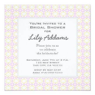 Retro Bridal Shower Invitation - Pink and Yellow