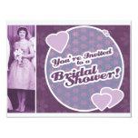 """Retro Bridal Shower Invites 4.25"""" X 5.5"""" Invitation Card"""