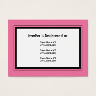 Bridal Registry Business Cards Templates Zazzle