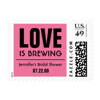 Retro Bridal Shower Tea Party Stamp