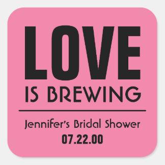 Retro Bridal Shower Tea Party Stickers