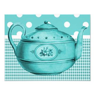 Retro Bridal Tea 4.25x5.5 Paper Invitation Card