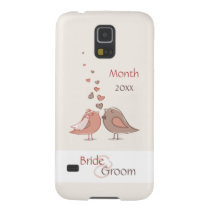 Retro Bride and Groom Birds Gifts Galaxy S5 Cover