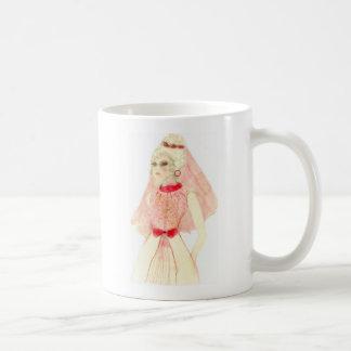 Retro Bride in Red Coffee Mug