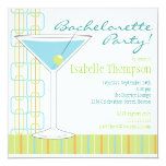 Retro Bride Martini Bachelorette Party Invitation