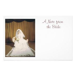 Retro Bride Note Paper