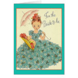 Retro Bride To Be Greeting Card